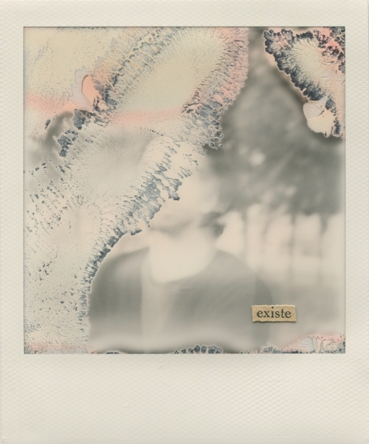 © Natalia Romay - allí todavía, existe | Collage poético sobre polaroid propia | Madrid (España)