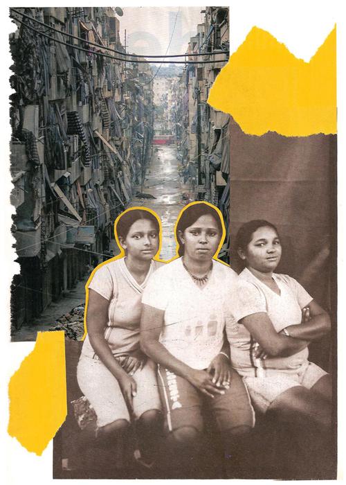 © Sacha Senger - Meninas amarelas | Collage analógico | São Paulo (Brasil)