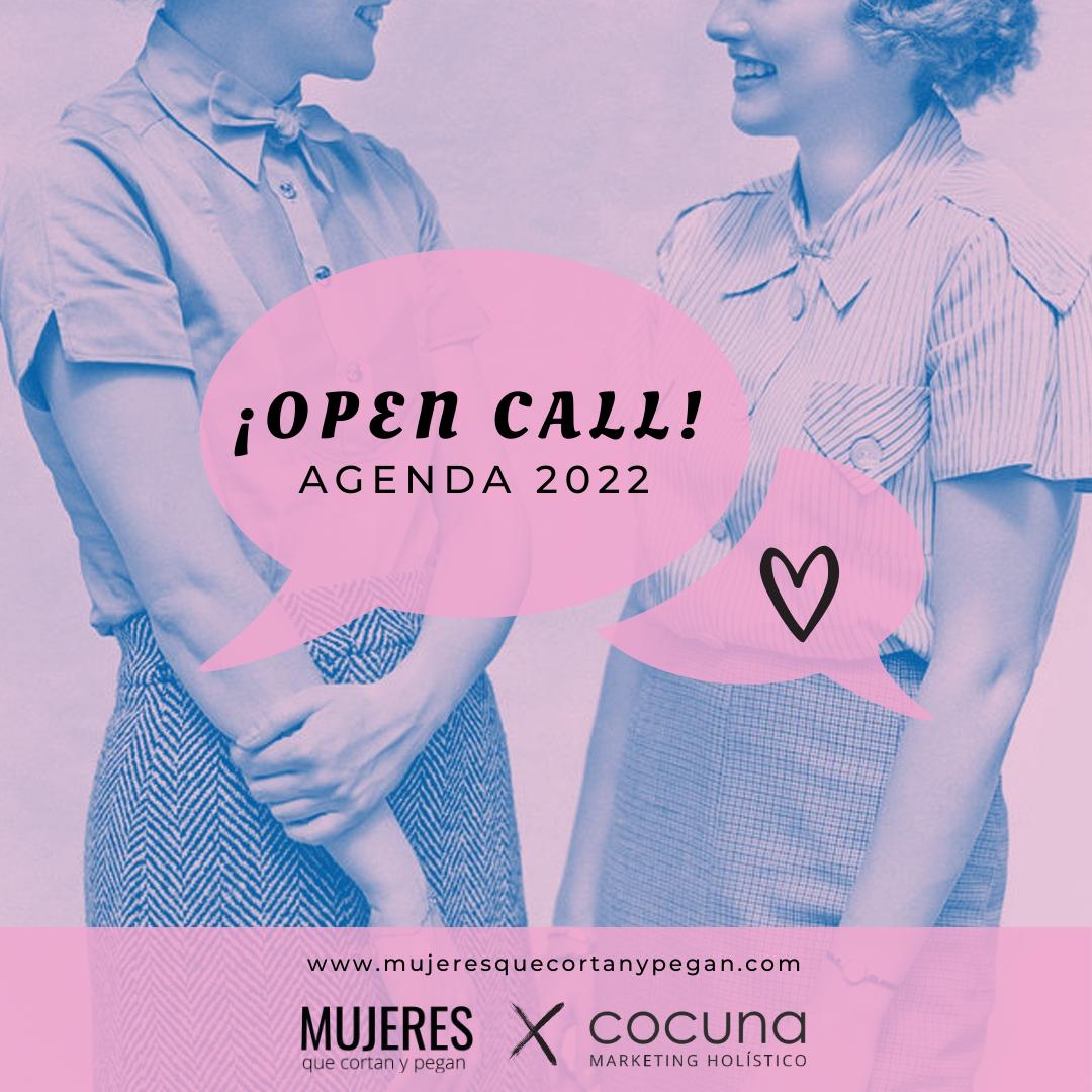 CONVOCATORIA/ OPEN CALL AGENDA 2022 – Mujeres que cortan y pegan x Cocuna Marketing